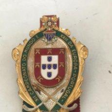 Coleccionismo deportivo: INSIGNIA XII CAMPEONATO DO MUNDO E XXII DA EUROPA-PORTUGAL. PATINAJE. 1956.. Lote 276263768