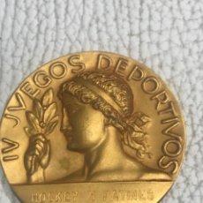 Coleccionismo deportivo: MEDALLA IV JUEGOS DEPORTIVOS HOCKEY PATINES BARCELONA1965.. Lote 276373223