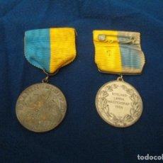 Coleccionismo deportivo: MEDALLAS SUECAS DE DEPORTE DE CAZA 1956. Lote 276785433