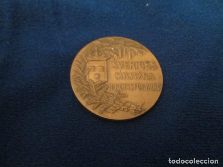 MONEDA FEDERACION SUECA DEPORTE MILITAR ANTIGUA (Coleccionismo Deportivo - Medallas, Monedas y Trofeos - Otros deportes)
