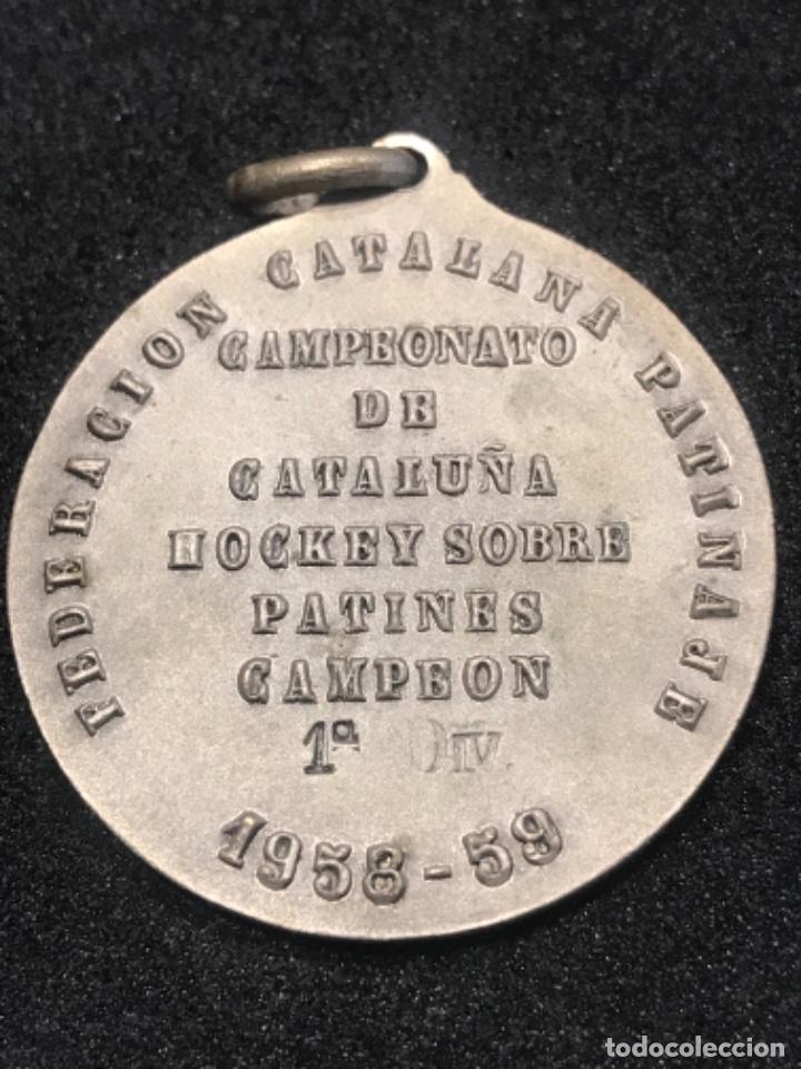 Coleccionismo deportivo: MEDALLA CAMPEONATO DE CATALUNYA HOCKEY PATINES 1958-1959 CAMPEONES. - Foto 3 - 276992138