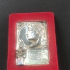 Coleccionismo deportivo: PLACA HOMENAJE DEL GIRONA C.HOCKEY A JUAN A. ZABALIA CAMPEÓN DEL MUNDO HOCKEY PATINES. 1951.. Lote 278878963