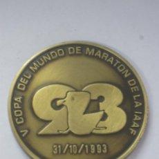 Collezionismo sportivo: MEDALLA V COPA DEL MUNDO DE MARATON DE LA IAAF DONOSTIA 93. Lote 285414188