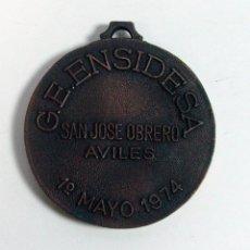Coleccionismo deportivo: MEDALLA G. E. ENSIDESA. SAN JOSE OBRERO AVILES. MAYO 1974. ASTURIAS. Lote 286637493