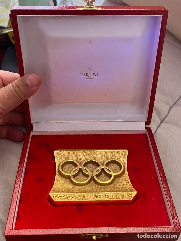 Coleccionismo deportivo: Auténtica medalla participación olímpica Citius, Altius, Fortius bretoni milano . Ver fotos - Foto 6 - 287020783
