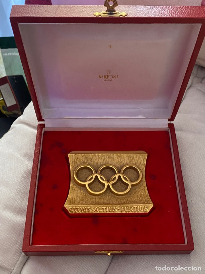 AUTÉNTICA MEDALLA PARTICIPACIÓN OLÍMPICA CITIUS, ALTIUS, FORTIUS BRETONI MILANO . VER FOTOS (Coleccionismo Deportivo - Medallas, Monedas y Trofeos - Otros deportes)