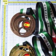 Coleccionismo deportivo: 2 MEDALLAS MEDALLONES. SPAIN NATIONAL PRO JIU JITSU CHAMPIONSHIP 2017 2018. EMIRATOS ARABES. 270 GR. Lote 290311283