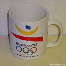 Coleccionismo deportivo: TAZA JARRA DE LOS JUEGOS OLÍMPICOS BARCELONA 92 1992 OLIMPIADAS. 9CM. 280GR. Lote 297042678