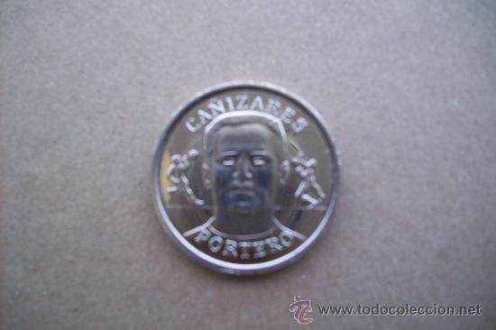 COLECCION OFICIAL MEDALLAS SELECCION MUNDIAL 2000. CAÑIZARES . VALENCIA CF (Coleccionismo Deportivo - Medallas, Monedas y Trofeos de Fútbol)