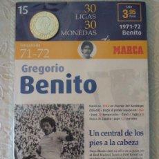 Coleccionismo deportivo: MONEDA DEL REAL MADRID. 15.- LIGA 1971 1972. GREGORIO BENITO. 30 LIGAS 30 MONEDAS. 2007. MARCA.. Lote 21318712