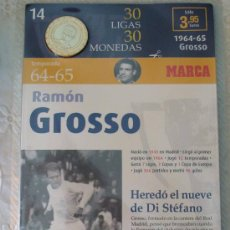 Coleccionismo deportivo: MONEDA DEL REAL MADRID. 14.- LIGA 1964 1965. RAMÓN GROSSO. 30 LIGAS 30 MONEDAS. 2007. MARCA.. Lote 21318742