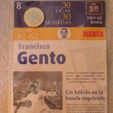 Coleccionismo deportivo: MONEDA DEL REAL MADRID. 8.- LIGA 1961 1962. FRANCISCO GENTO. 30 LIGAS 30 MONEDAS. 2007. MARCA.. Lote 21318851