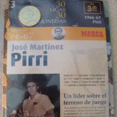 Coleccionismo deportivo: MONEDA DEL REAL MADRID. 3.- LIGA 1966 1967. MARTÍNEZ PIRRI. 30 LIGAS 30 MONEDAS. 2007. MARCA.. Lote 21318908