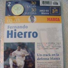 Coleccionismo deportivo: MONEDA DEL REAL MADRID. 2.- LIGA 2002 2003. FERNANDO HIERRO. 30 LIGAS 30 MONEDAS. 2007. MARCA.. Lote 21318922