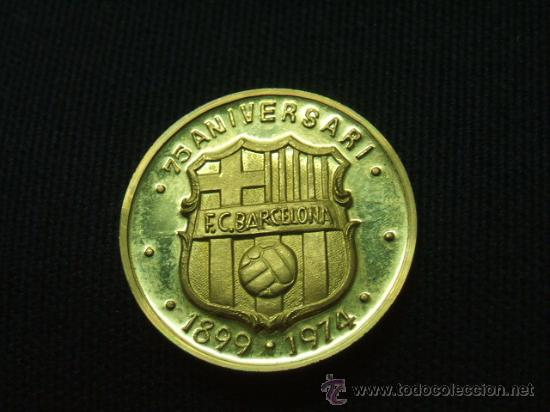 MEDALLA DE ORO 22 QTS. - 75 ANIVERSARI F.C. BARCELONA - ACUÑACIONES  ESPAÑOLAS - BARÇA b04bd7aacef