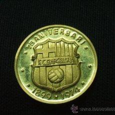 Coleccionismo deportivo: MEDALLA DE ORO 22 QTS. - 75 ANIVERSARI F.C. BARCELONA - ACUÑACIONES ESPAÑOLAS - BARÇA. Lote 27210262
