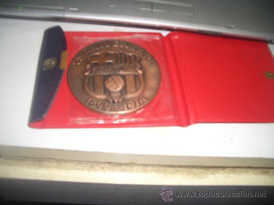 MEDALLA 75 ANIVERSARIO FUTBOL CLUB BARCELONA (Coleccionismo Deportivo - Medallas, Monedas y Trofeos de Fútbol)