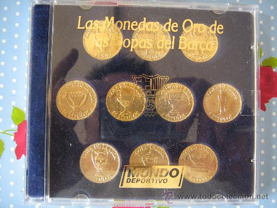 Barça Futbol Club cf Barcelona fc las monedas de oro de las copas del barça  del mundo deportivo 1228a34d200