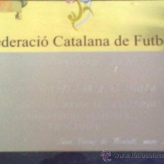 Coleccionismo deportivo: PLACA FEDERACION CATALANA DE FUTBOL . FUTBOL SALA. Lote 27807396