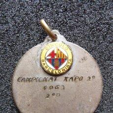 Coleccionismo deportivo: (JX-181)MEDALLA DEL CIRCULO BARCELONISTA CAMPIONAT DE XAPO 1963. Lote 30981879