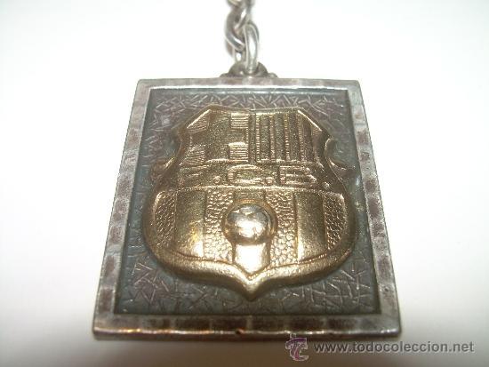 LLAVERO DEL ...F.C. BARCELONA......DE PLATA Y PLATA DORADA. (Coleccionismo Deportivo - Medallas, Monedas y Trofeos de Fútbol)