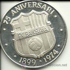 Coleccionismo deportivo: (F-127)MEDALLA DE PLATA DEL 75 ANIVERSARI DEL F.C.BARCELONA ( 24 GRS.) CON ESTUCHE. Lote 35325600