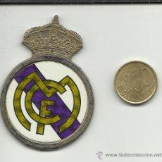 Coleccionismo deportivo: ESCUDO METALICO FUTBOL.REAL MADRID. Lote 35787406