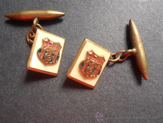 ANTIGUOS GEMELOS DEL F.C.BARCELONA DE LOS AÑOS 50 (Coleccionismo Deportivo - Medallas, Monedas y Trofeos de Fútbol)