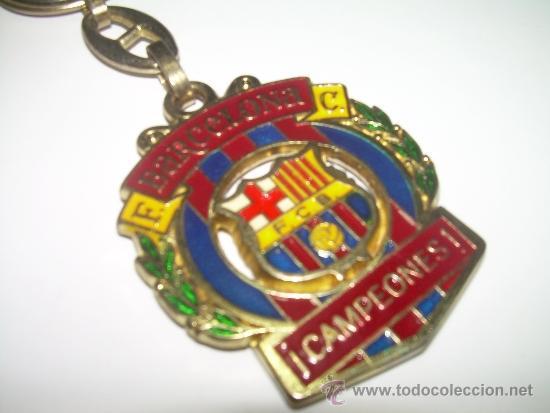 ANTIGUO LLAVERO METALICO ....F.C. BARCELONA....CAMPEONES (Coleccionismo Deportivo - Medallas, Monedas y Trofeos de Fútbol)