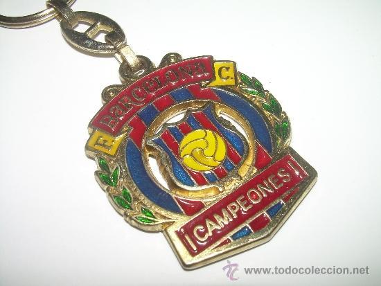 Coleccionismo deportivo: ANTIGUO LLAVERO METALICO ....F.C. BARCELONA....CAMPEONES - Foto 2 - 36405289