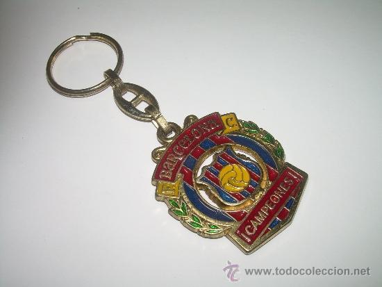 Coleccionismo deportivo: ANTIGUO LLAVERO METALICO ....F.C. BARCELONA....CAMPEONES - Foto 4 - 36405289