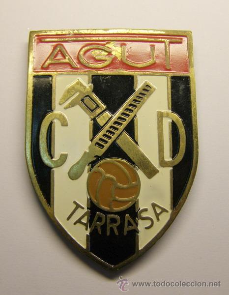 PLACA CLUB DEPORTIVO TARRASA. AGUT. (Coleccionismo Deportivo - Medallas, Monedas y Trofeos de Fútbol)