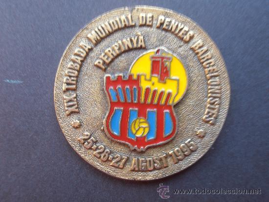 XIX TROBADA DE PEÑAS BARCELONISTAS DE PERPIINYA DE 1.995 (Coleccionismo Deportivo - Medallas, Monedas y Trofeos de Fútbol)