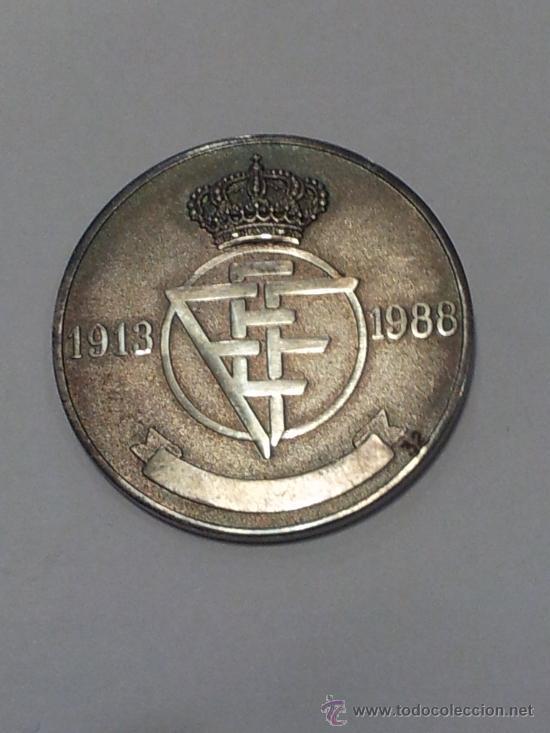 Coleccionismo deportivo: Medalla. Plata. 75 Aniversario RFEF, 1913-1988. Serie numerada. RARA - Foto 2 - 38960437