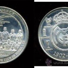 Coleccionismo deportivo: - REAL MADRID MEDALLA MONEDA EL ONCE DEL CENTENARIO 1.902/2002 CON LA LEYENDA EL CENT. Lote 39286740