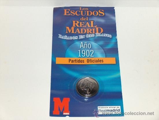 ESCUDO DEL REAL MADRID EN EL AÑO 1902. (Coleccionismo Deportivo - Medallas, Monedas y Trofeos de Fútbol)