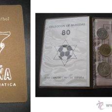Coleccionismo deportivo: ESPAÑA FUTBOL MUNDIAL 82 SERIE NUMISMATICA. CARTERA CON 6 MONEDAS 1980. SIN CIRCULAR. Lote 40746754