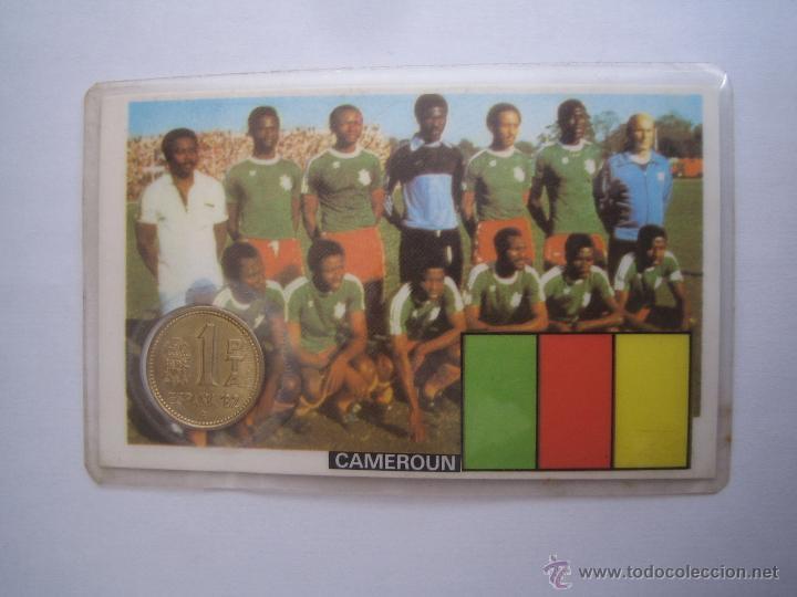 1 MONEDA OFICIAL CONMEMORATIVA MUNDIAL FUTBOL ESPAÑA 82 EQUIPO CAMERUN (Coleccionismo Deportivo - Medallas, Monedas y Trofeos de Fútbol)