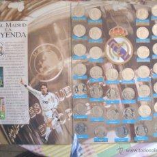 Coleccionismo deportivo: COLECCION MONEDAS REAL MADRID Y ALBUM DE CROMOS. Lote 42059086