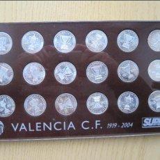 Coleccionismo deportivo: MONEDAS DEL SUPER DEPORTE HISTORIA DE LAS COPAS DEL VALENCIA C.F.. Lote 34623807