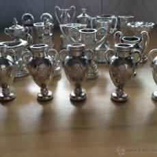 Coleccionismo deportivo: COLECCION DE TROFEOS EN MINIATURA DEL REAL MADRID CLUB DE FUTBOL.!!!!. Lote 43244573