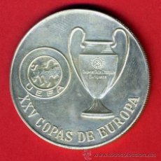 Collectionnisme sportif: MEDALLA, PLATA 23 GRAMOS , XXV 25 COPAS DE EUROPA UEFA , FUTBOL , REAL MADRID, ORIGINAL ,Z6. Lote 43650491