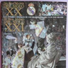 Coleccionismo deportivo: COLECCION INCOMPLETA LAS MONEDAS OFICIALES REAL MADRID DIARIO AS - GRANDES ASES CROMOS SIGLO XX-XXI. Lote 44369538