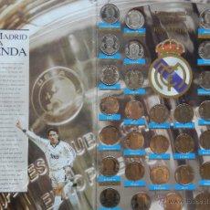 Coleccionismo deportivo: COLECCION LAS MONEDAS OFICIALES REAL MADRID DIARIO AS - GRANDES ASES ALBUM COMPLETO CROMOS . Lote 44369553