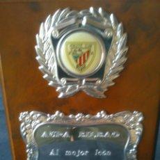 Coleccionismo deportivo: PLACA ATHLETIC CLUB BILBAO.11X15CM.. Lote 45363115