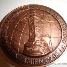 Coleccionismo deportivo: MEDALLA LV TROFEO TERESA HERRERA 2000 JOYERIA MALDE AYUNTAMIENTO LA CORUÑA TORRE HERCULES. Lote 45377813