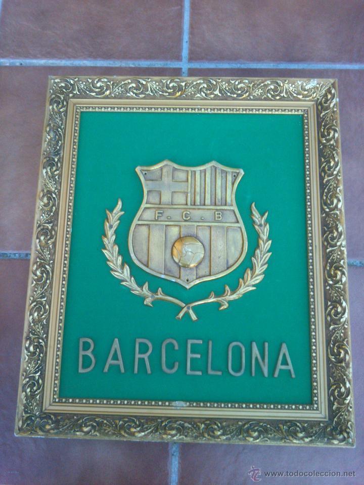 impresionante escudo bronce enmarcado futbol cl - Comprar Medallas ...