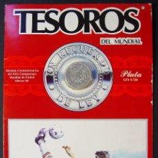 Coleccionismo deportivo: MONEDA EN PLATA CONMEMORATIVA DEL MUNDIAL DE MÉXICO 1986.. Lote 46249698