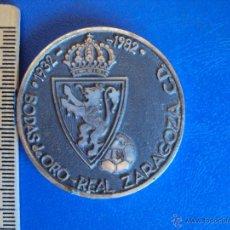 Coleccionismo deportivo: (F-1244)MEDALLA BODAS DE ORO DEL REAL ZARAGOZA , 1932 - 1982 , PARTIDO ESPAÑA-IRLANDA ,27-4-1983. Lote 46891586