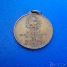 Coleccionismo deportivo: (F-011)MEDALLA A.U.DE F CAMPEONATO MUNDIAL DE FOOTBALL MONTEVIDEO 1930 ARCHIVO D.PABLO PORTA. Lote 47020740